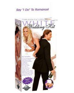 White Wedding Kit , komplekt mesinädalateks, Sekslelud, Komplektid, Kingid naisele