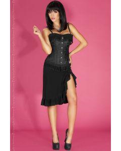Chilirose elegantne musta värvi korsett koos narmastega, Naiste pesud ja riided, Korsetid