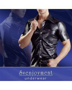 Must meeste särk kunstnahast, Pesud ja riided meestele, Särgid
