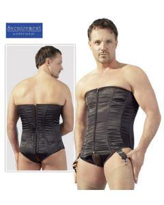 Men's corset black, meeste korsett, Komplektid