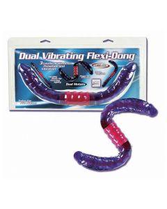 Dual Vibrating Flexi-Dong, kahe otsaga vibreeriv dildo, Dildod, SOODUSTUSED
