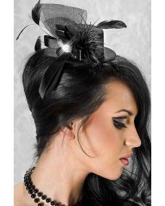 Must Minikübar sulega, Aksessuaarid naistele , Kübarad