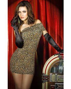 Minidress, brown leopard, Ilusad ja moodsad kleidid, SOODUSTUSED