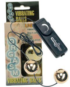 Orgasm Vibrating Ball - Gold, vibreerivad armukuulid, Sekslelud, Sekslelud naistele, Minivibrad ja kuulid
