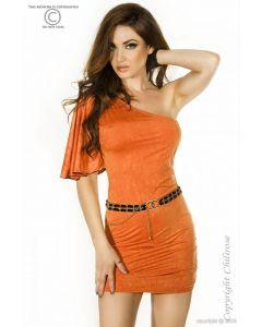Orange minidress S/M, Ilusad ja moodsad kleidid, SOODUSTUSED