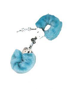 Furry Cuffs, blue, Käerauad