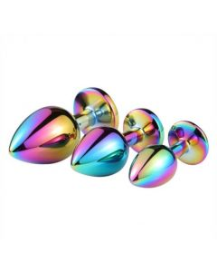 Colorful Stainless Steel Jewelry Butt Plug