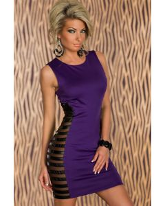 Lilla Bodycon kleit küljelt triipudega, Pesud & Riided, Ilusad ja moodsad kleidid, SuperDeals, Superdeals