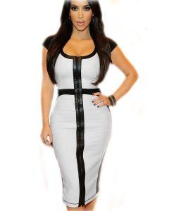 Must/Valge Bodycon Midi Kleit, Naiste pesud ja riided, Sekspood, Ilusad ja moodsad kleidid, Pikad ja pidulikud kleidid, SuperDeals, Superdeals